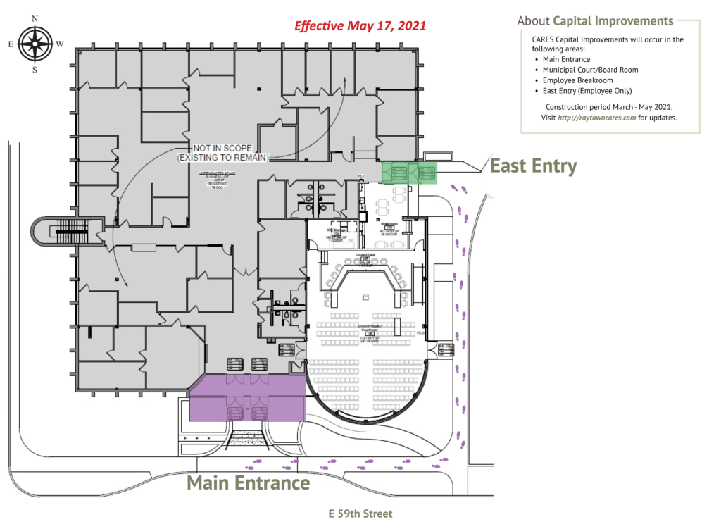 Construction map effective May 17, 2021